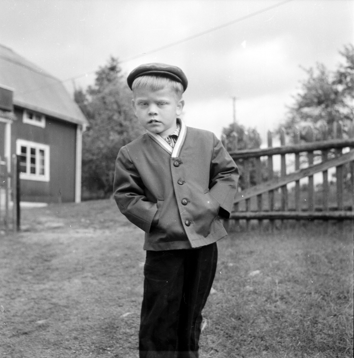 """Alfta, Per Svahn """"buför"""" till Brattskuru, 8 Juni 1960"""