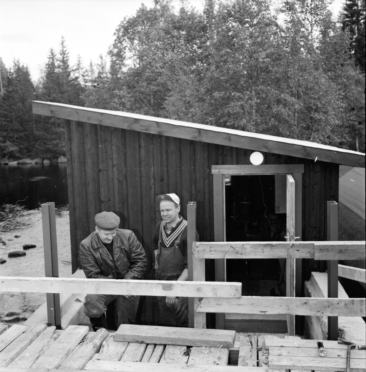 Olovsfors, Sörbo, Ny kraftstation vid sommarstugan, Åke Andersson, 12 Sept 1964