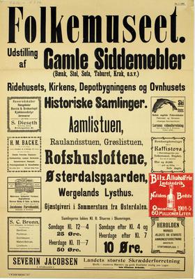 Plakat Gamle siddemøbler (Foto/Photo)