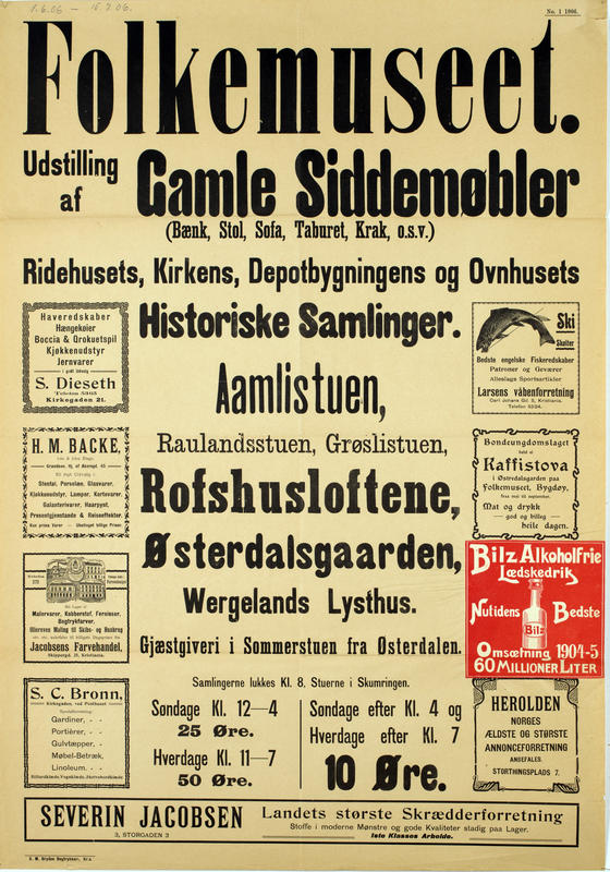 Plakat Gamle siddemøbler