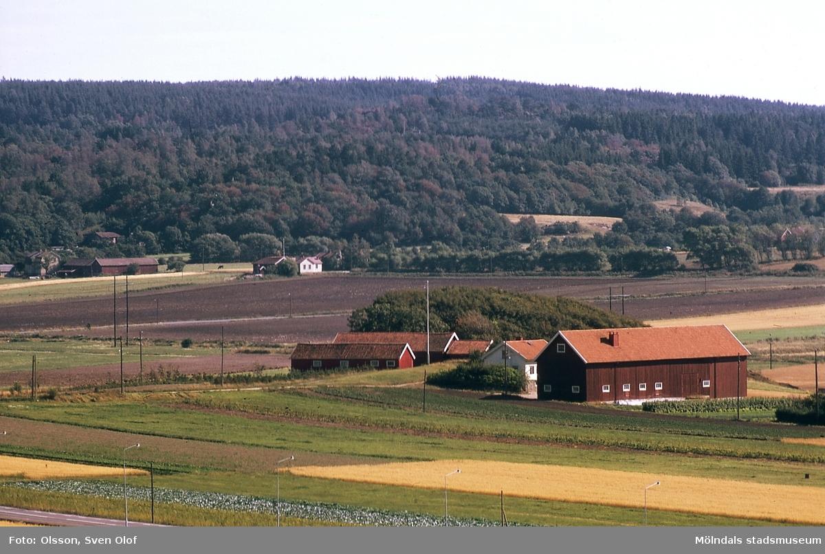 I förgrunden ses Fässberg Mellangården 1 i Mölndal, år 1970. I bakgrunden Balltorp. F 3:8.