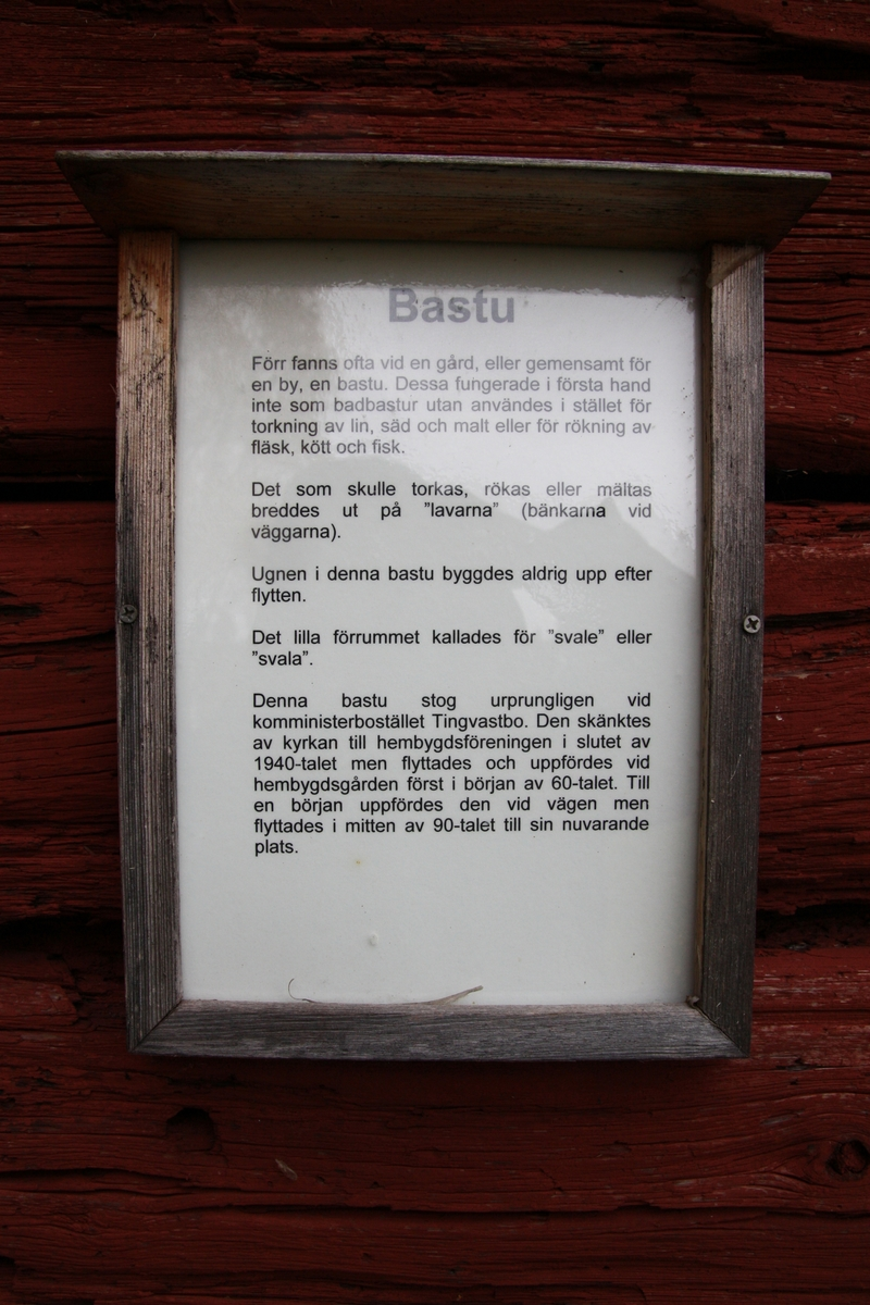 Bastu vid Huddunge hembygdsgård, Huddunge socken, Heby kommun, Uppsala län 2014
