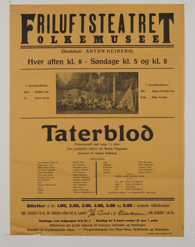 Teaterplakat NF.34668-076 (Foto/Photo)