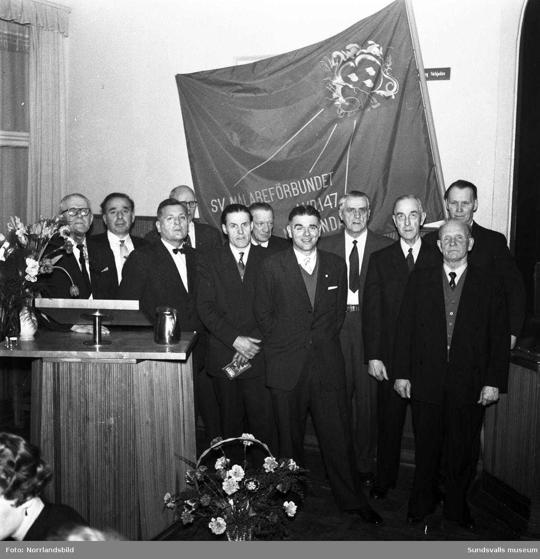 Svenska Målareförbundet avd 147 firar 25-årsjubileum, 1934-1959.