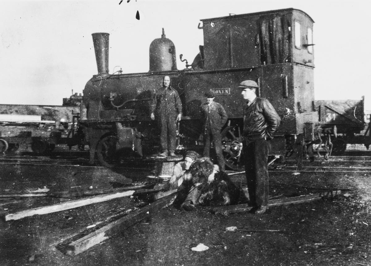 Damplokomotiv nr. 6 Roxen på Svalbard.