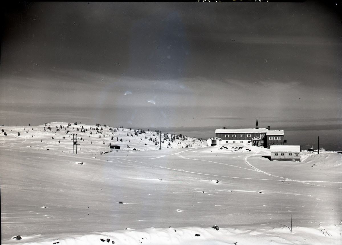 Vinterlandskapsbilde over Fjellstølen.