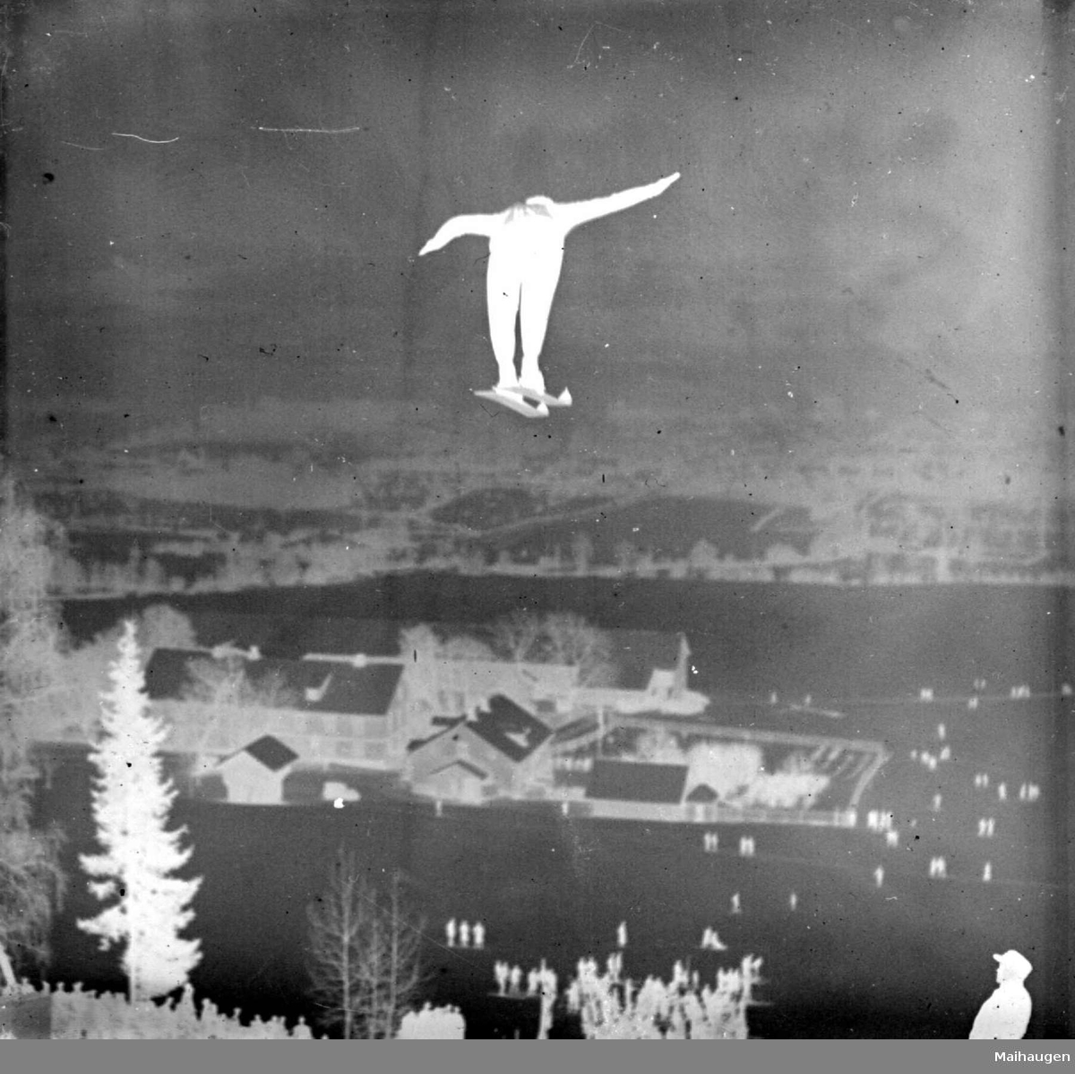 Hovedlandsrennet på Lillehammer, Lysgårdsbakken 1927. Hopper,  starter nr. 28