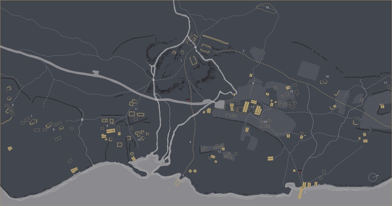 Kart over Femundshytta