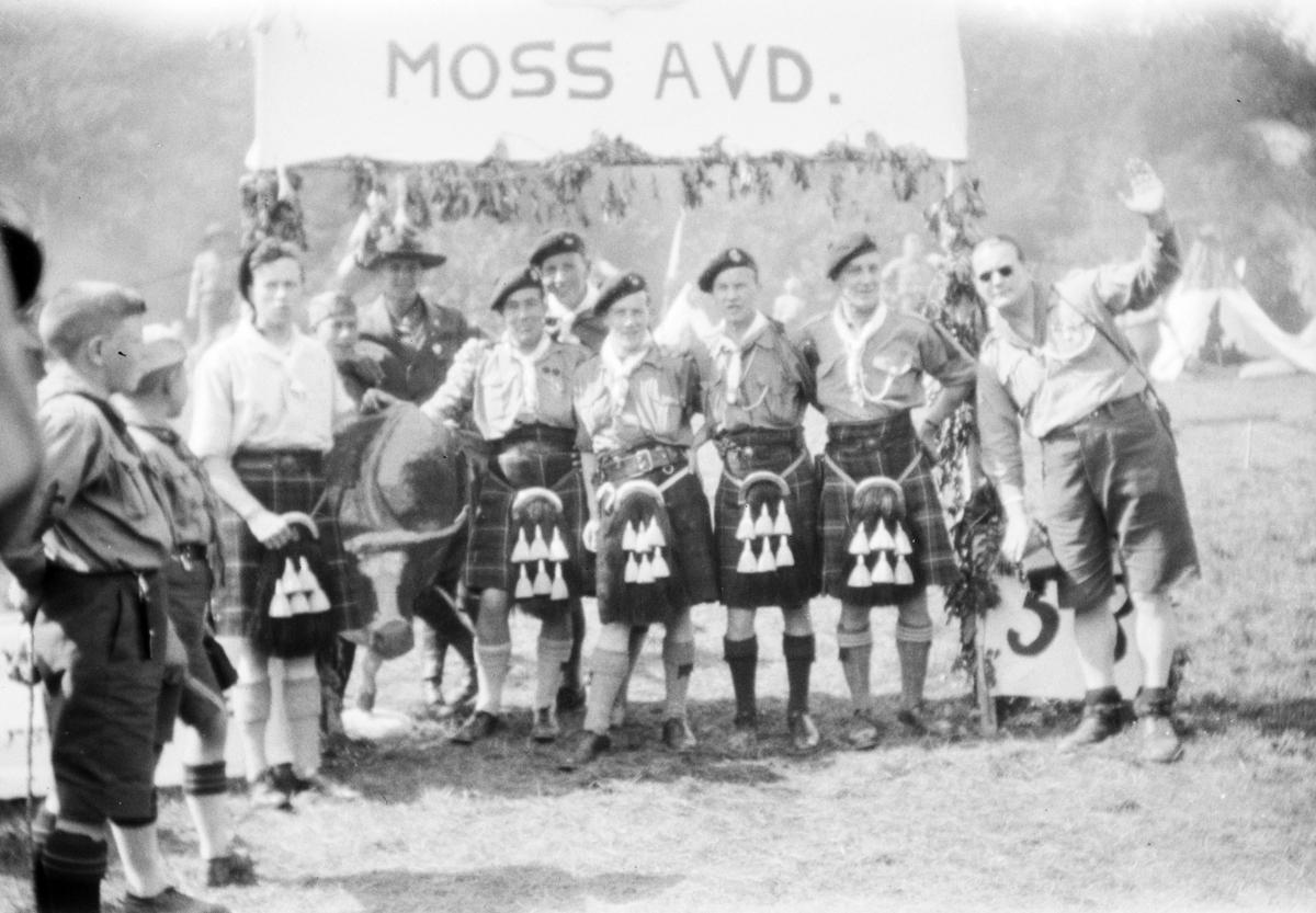 Landsleir i Åndalsnes 1928. Speidertropp fra Scotland.