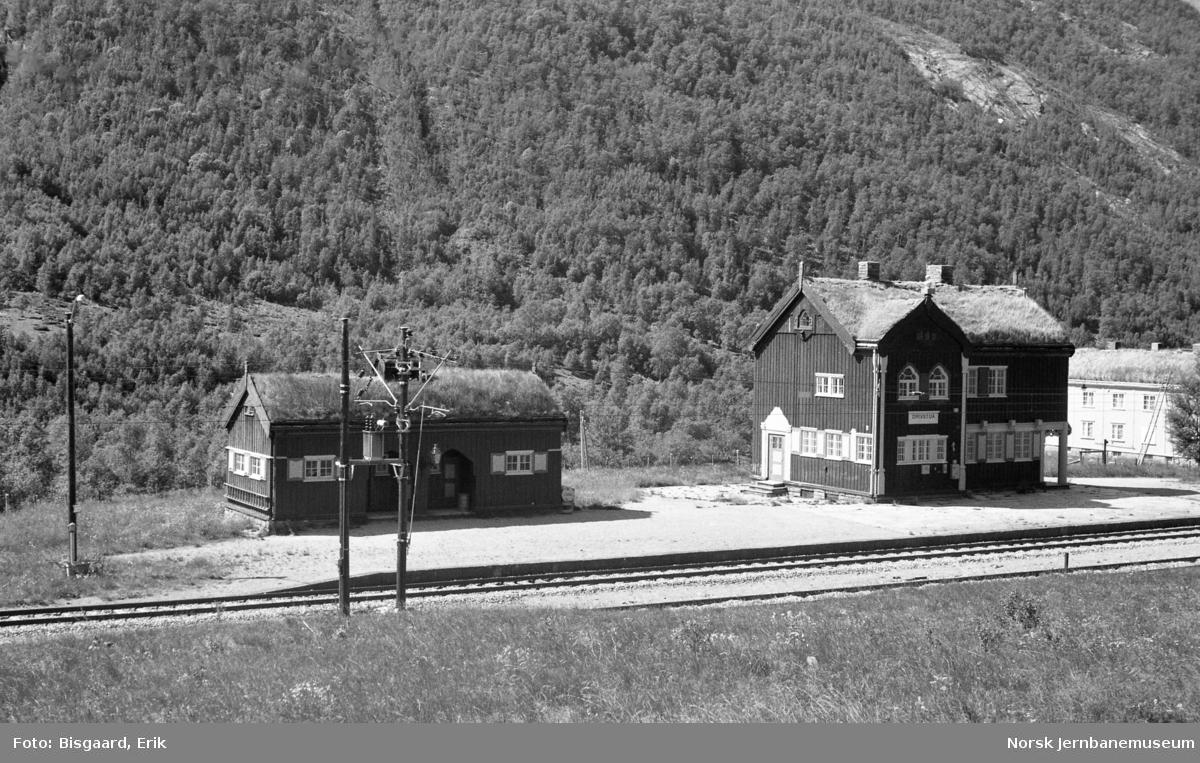 Drivstua stasjonsbygning og godshus/uthusbygning