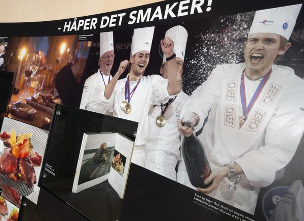 Mesterkokker i Tråkk-utstillingen. Foto/Photo