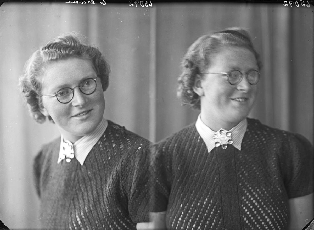 Portrett. Kvinne med briller. Bestilt av Thea Gunderstad. Sjøllestrømmen