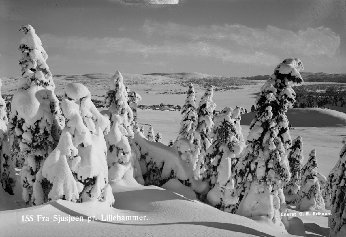 Vinter på Sjusjøen i Ringsaker.