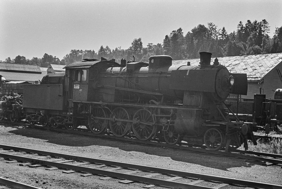 Hensatt damplokomotiv type 30c nr. 467 på Marienborg ved Trondheim.