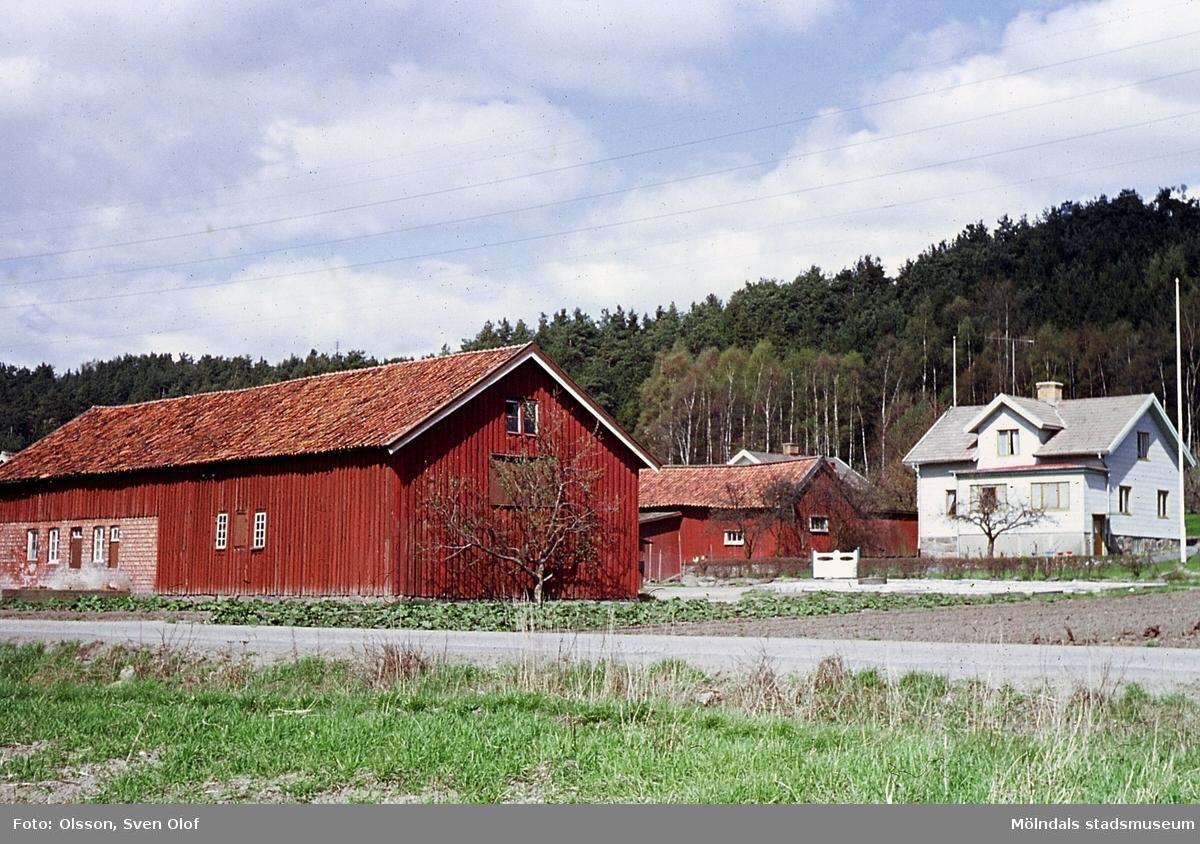 Bebyggelse på Nordgården 2 i Toltorp, Mölndal, år 1965.