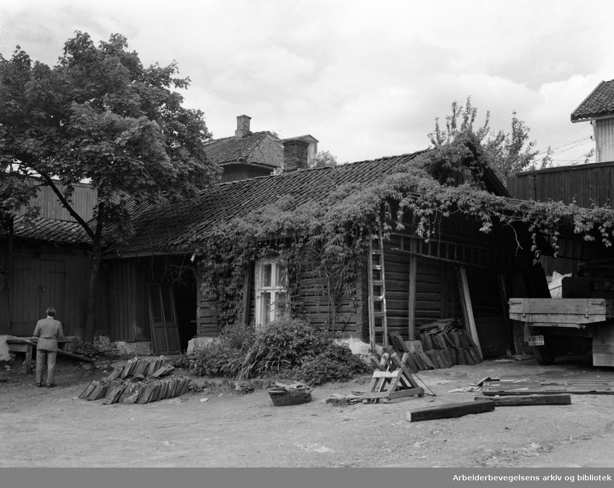 Trondheimsveien 80. Juni 1955