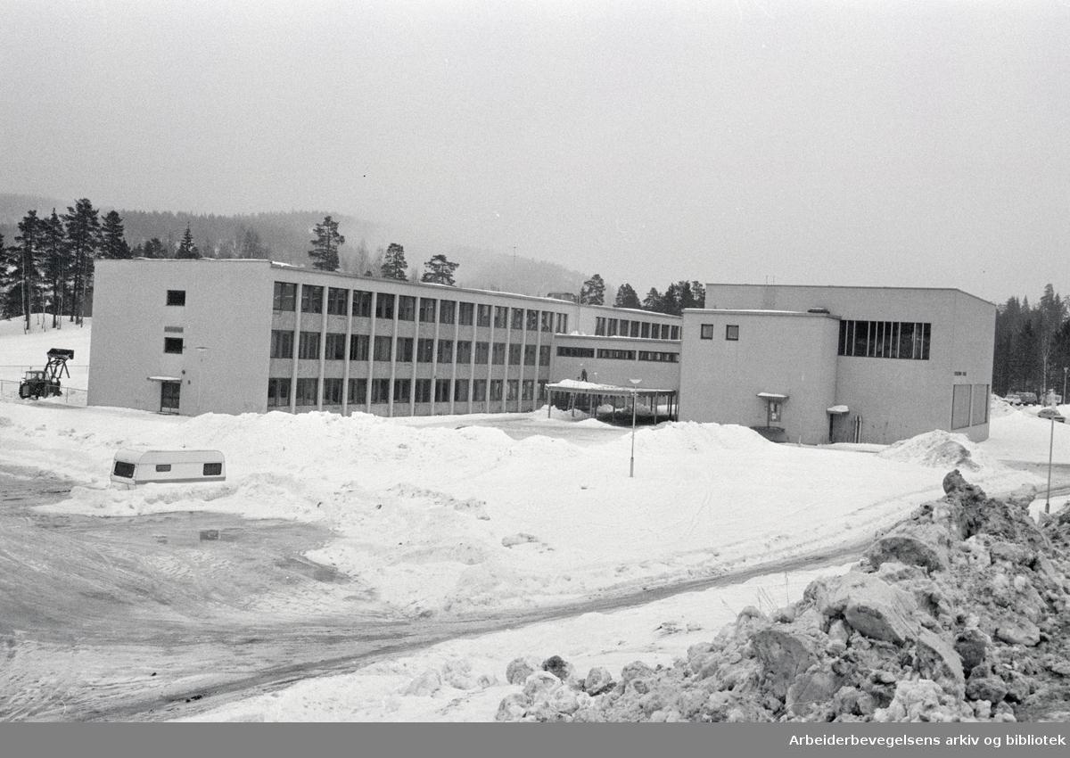 Skullerud ungdomsskole.Mars 1978