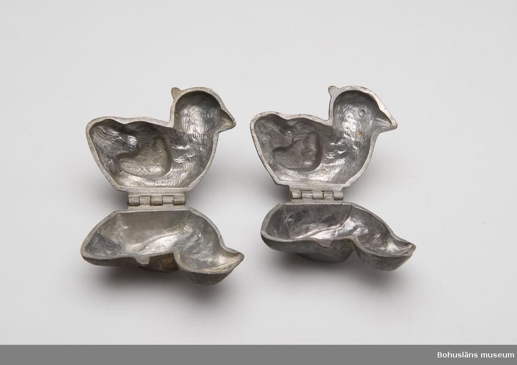Ur punktnummerkatalogen 1958-1976: Nyholms konditori 7 st bakformar av tenn I form av fågel