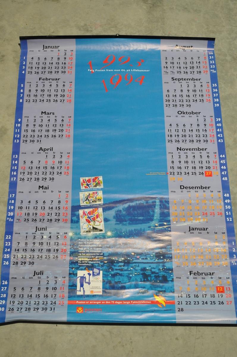 Postens OL-kalender 1993-1994