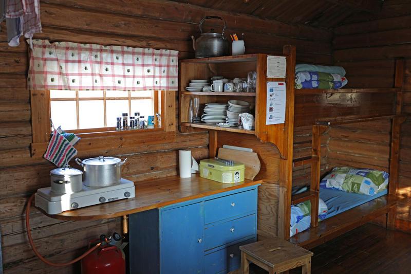 DNT-hytte på Norsk Folkmuseum. 07.02.18. Foto: Astrid Santa, Norsk Folkemuseum.