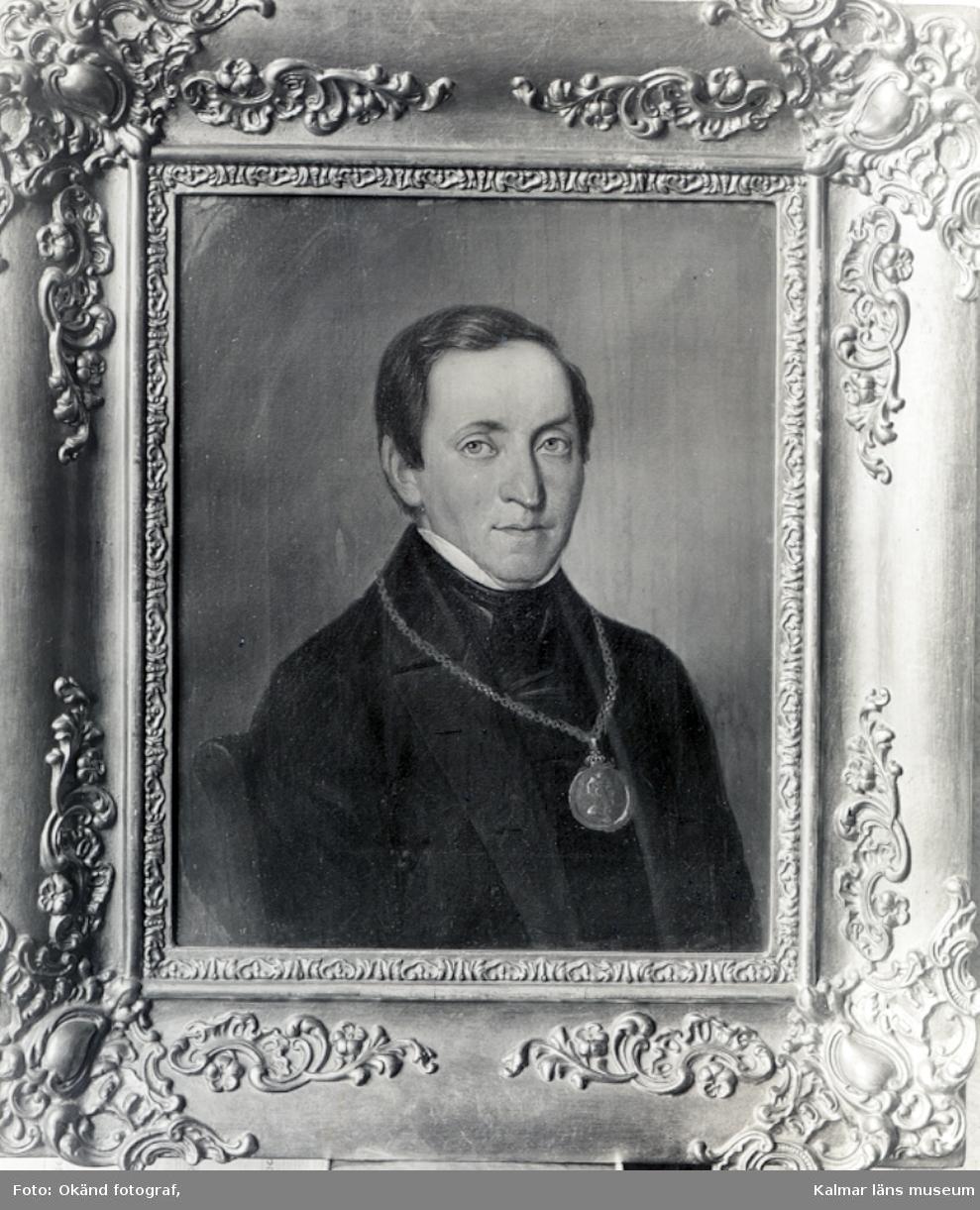 Rogberg C.G. Professor i Uppsala. Dottern gift med biskop Sjöbring i Kalmar. Orginal olja på duk, hos rådman N. Sjöbring, Kalmar.