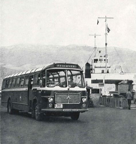 Dette er bilde av den tredje og siste bussen i JVB med registreringsnr. E-15611. En Scania Vabis B 75 registrert 090463 med 43 sitteplasser og er lakkert i originale JVB farger.