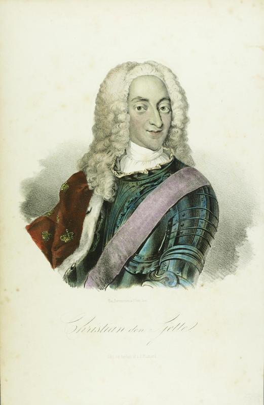 Portrett av Christian 6. med hermelinskappe og rustning. (Foto/Photo)