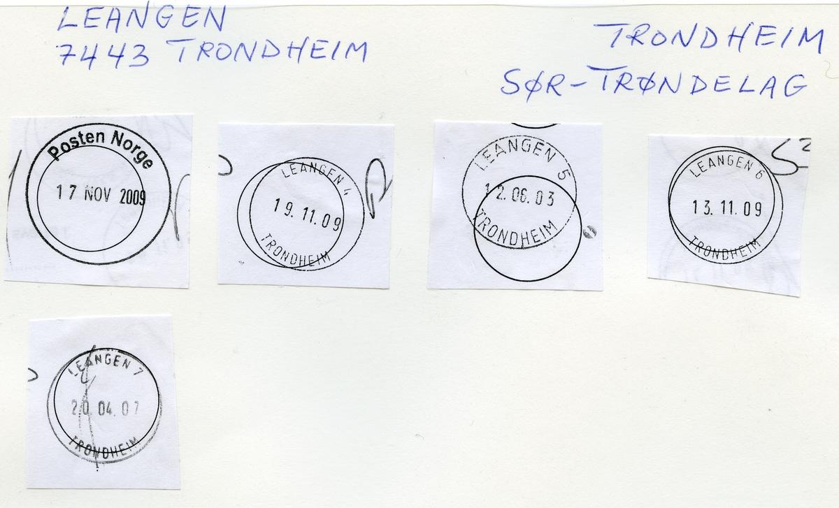 Stempelkatalog 7000 Leangen (Leangen i Strinden, Leangen i Strinda), Trondheim, Sør-Trøndelag