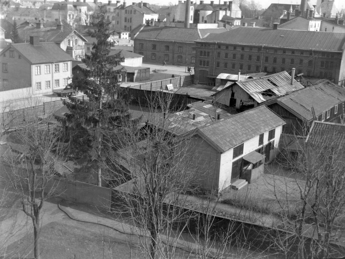 Brand i Gävle. 9 april 1945