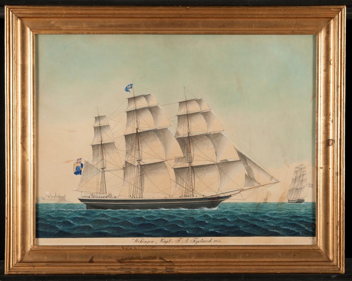 Målande sjöman, Skeppsporträtt