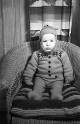 Portrett av et uidentifisert barn. Sju bilder.