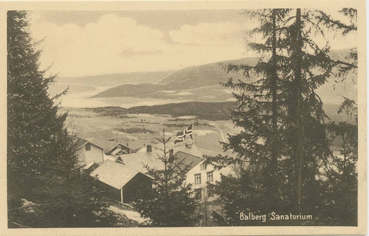 Repro: Balberg Sanatorium, postkort