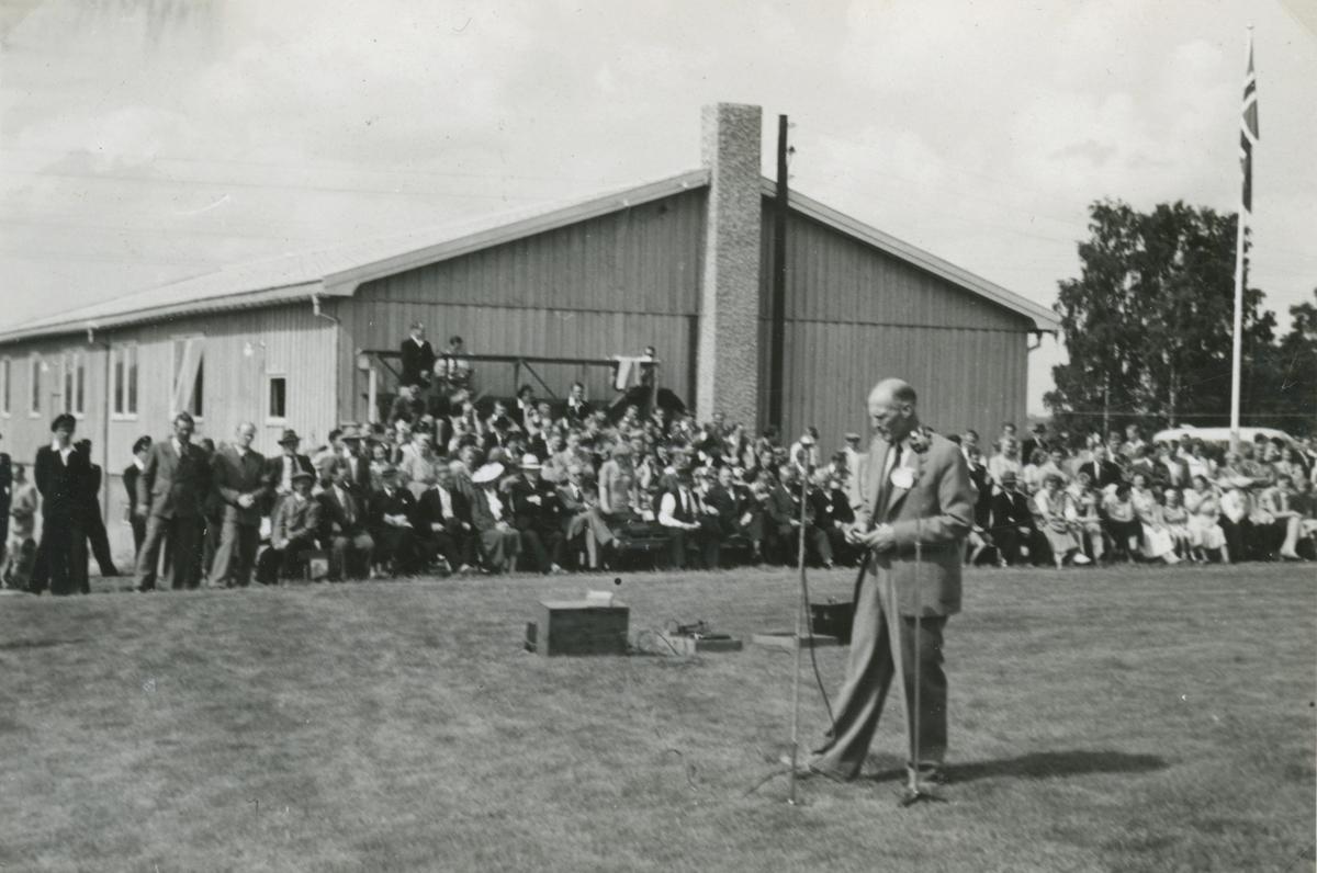Åpning av Haga samfunnshus i 1950.