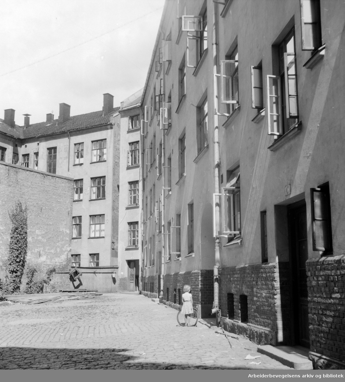 Åkebergveien 50. Juli 1954