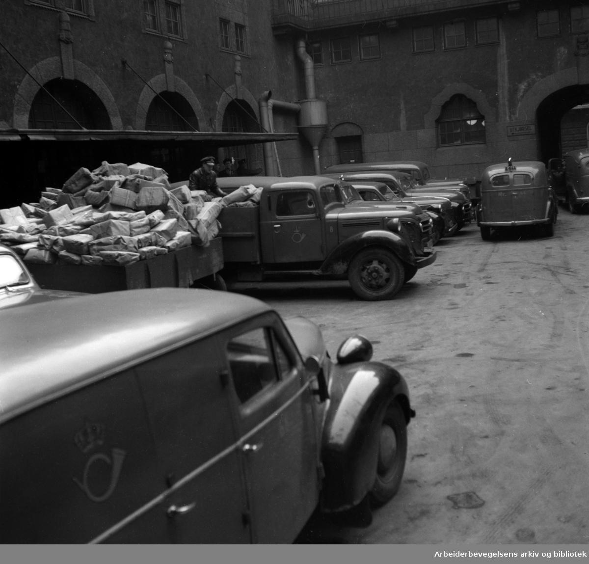 Posthuset. Februar 1954