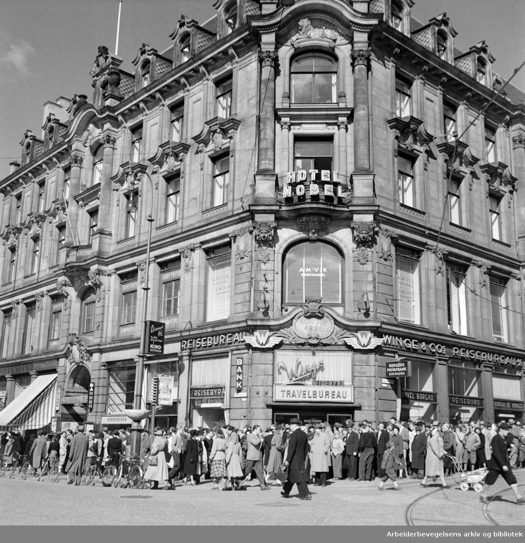 Nobel Hotell (Karl Johans gate). Mai 1953