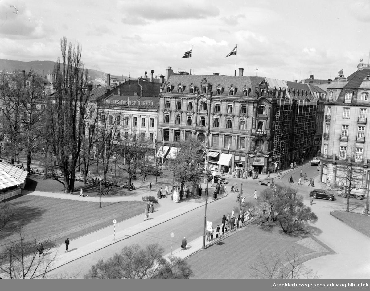 Nobel Hotell (Karl Johans gate). April 1950