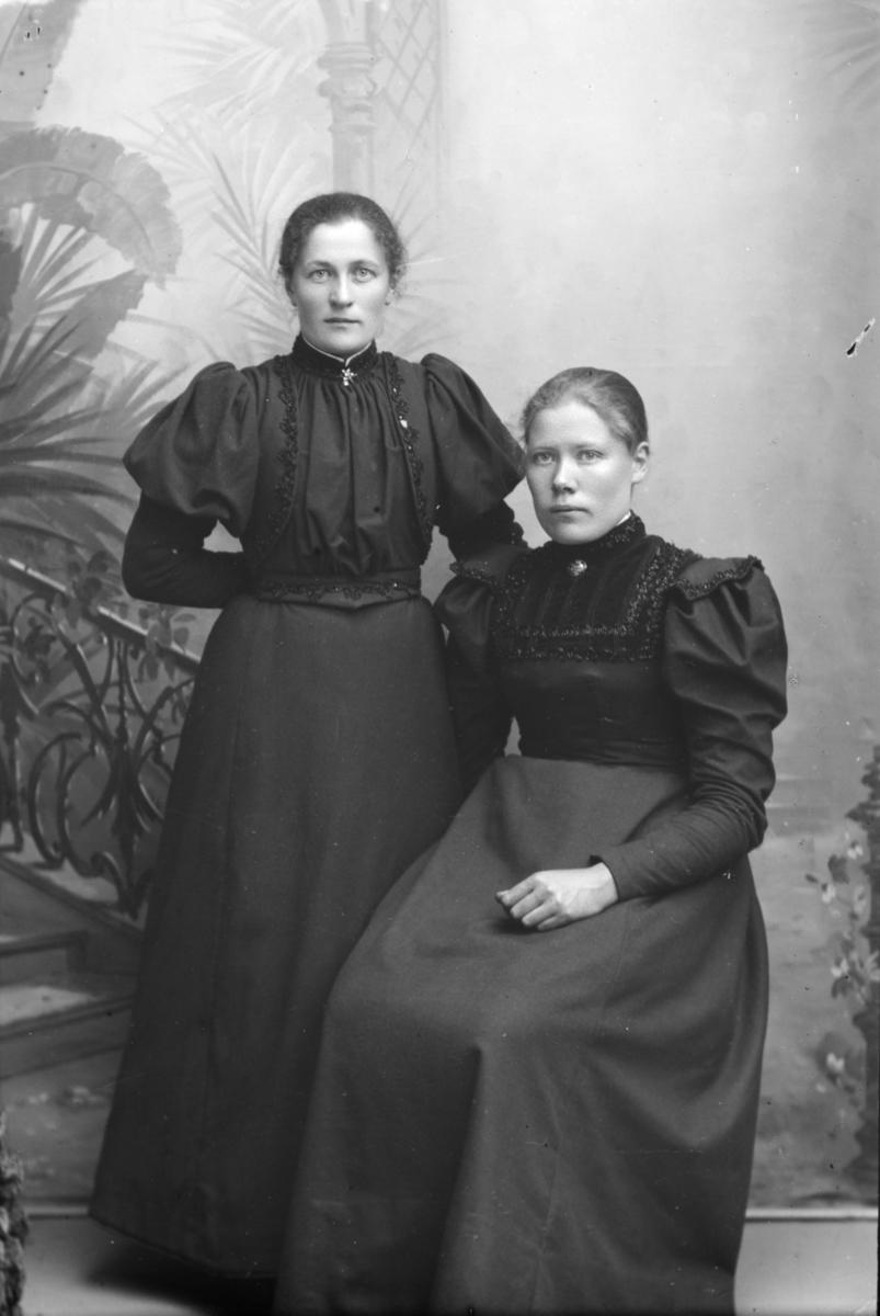 Portrett av Marit Hagestuen og en annen kvinne.