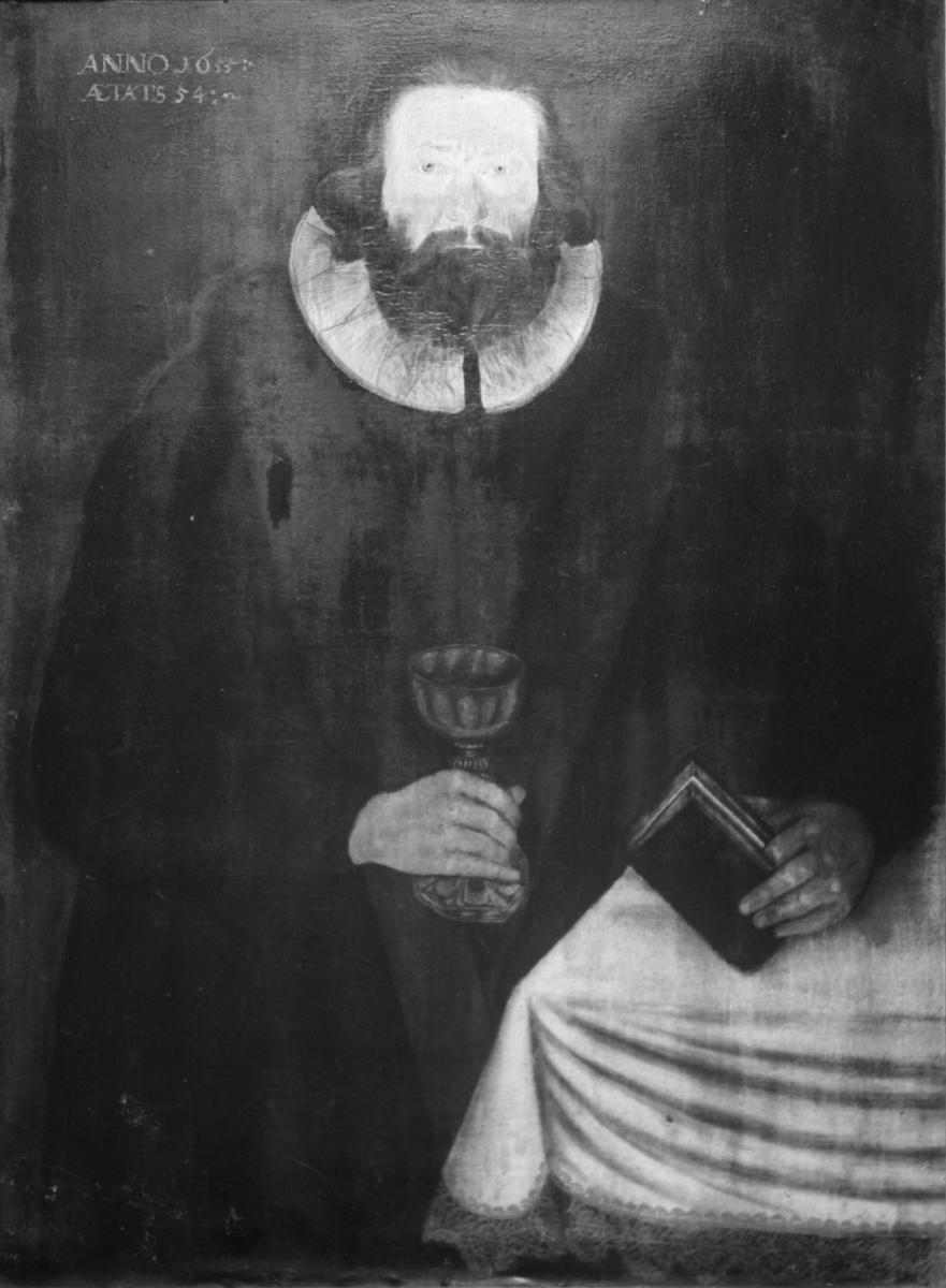 Repro av maleri av en prest