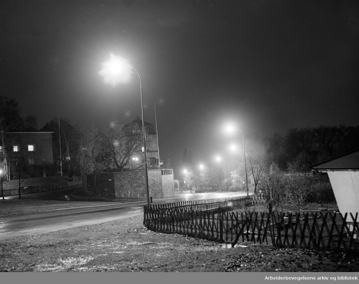 Halvdan Svartes gate. Oktober 1957