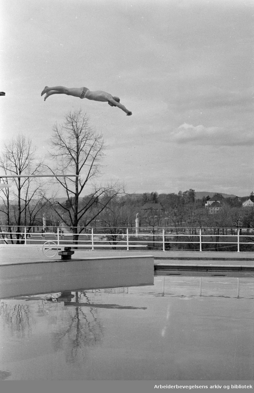 Frognerbadet. Åpningen av Frognerbadet. Mai 1969