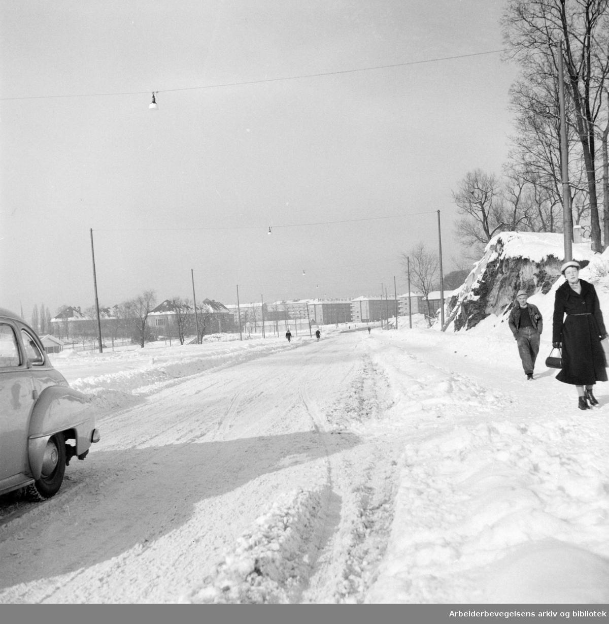 Finnmarksgata snart ferdig. Mars 1957