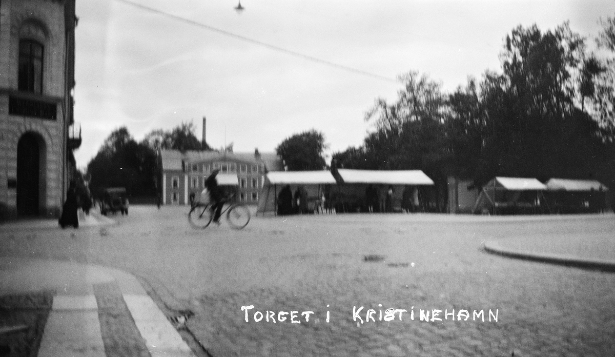 Bilsemester 1928 - torget i Kristinehamn