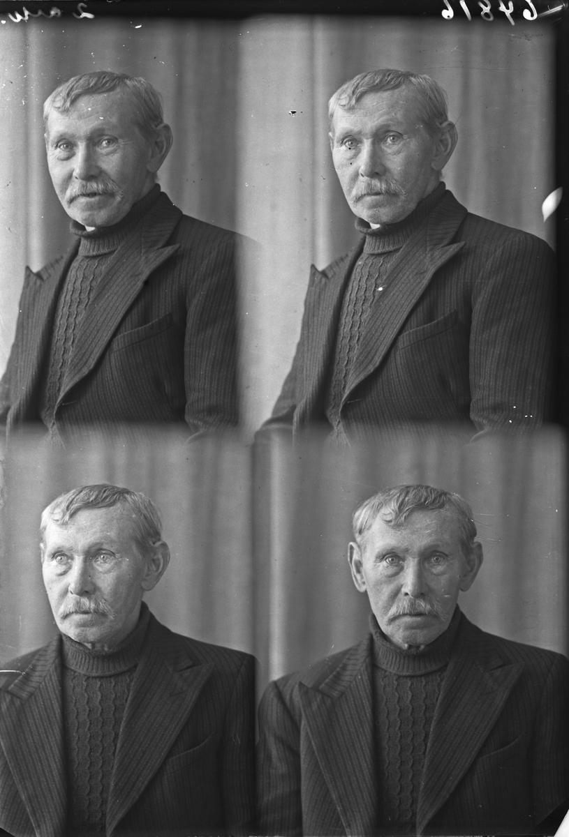 Portrett. Mann. Bestilt av Ole Melbø. Rossebø. Skåre.