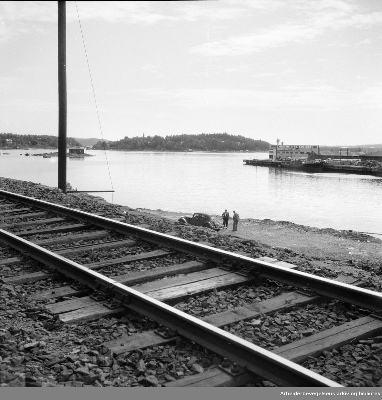 Bekkelaget. Der det nye Ekeberganlegget skal ligge..Juni 1947.