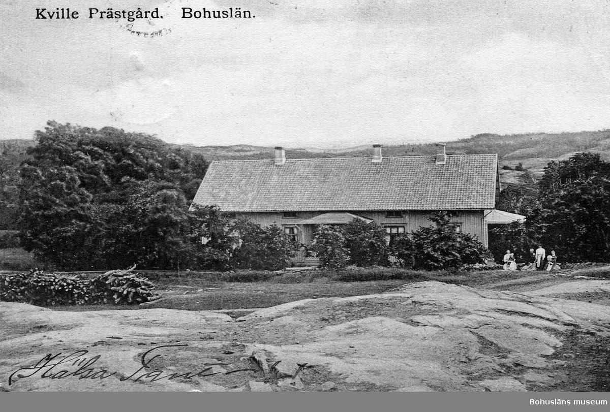"""Text till bilden: """"Kville prästgård, Bohuslän""""."""