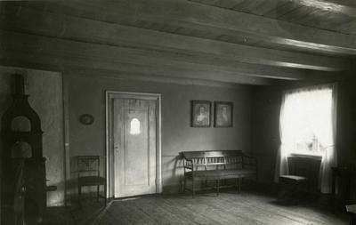 Interiør i Barthegården på Norsk Folkemuseum. 1930.