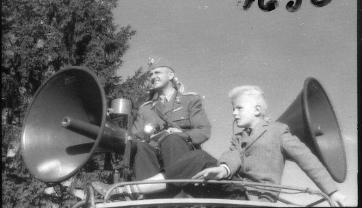 Regementets Dag 1956, A 6, Jönköping. Rocksjövallen, överstelöjnant Walter Lundqvist.