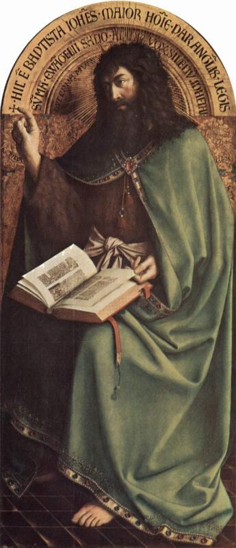 Johannes Døperen gjengitt i Jan van Eycks - The Yorck Project (2002) 10.000 Meisterwerke der Malerei (Foto/Photo)