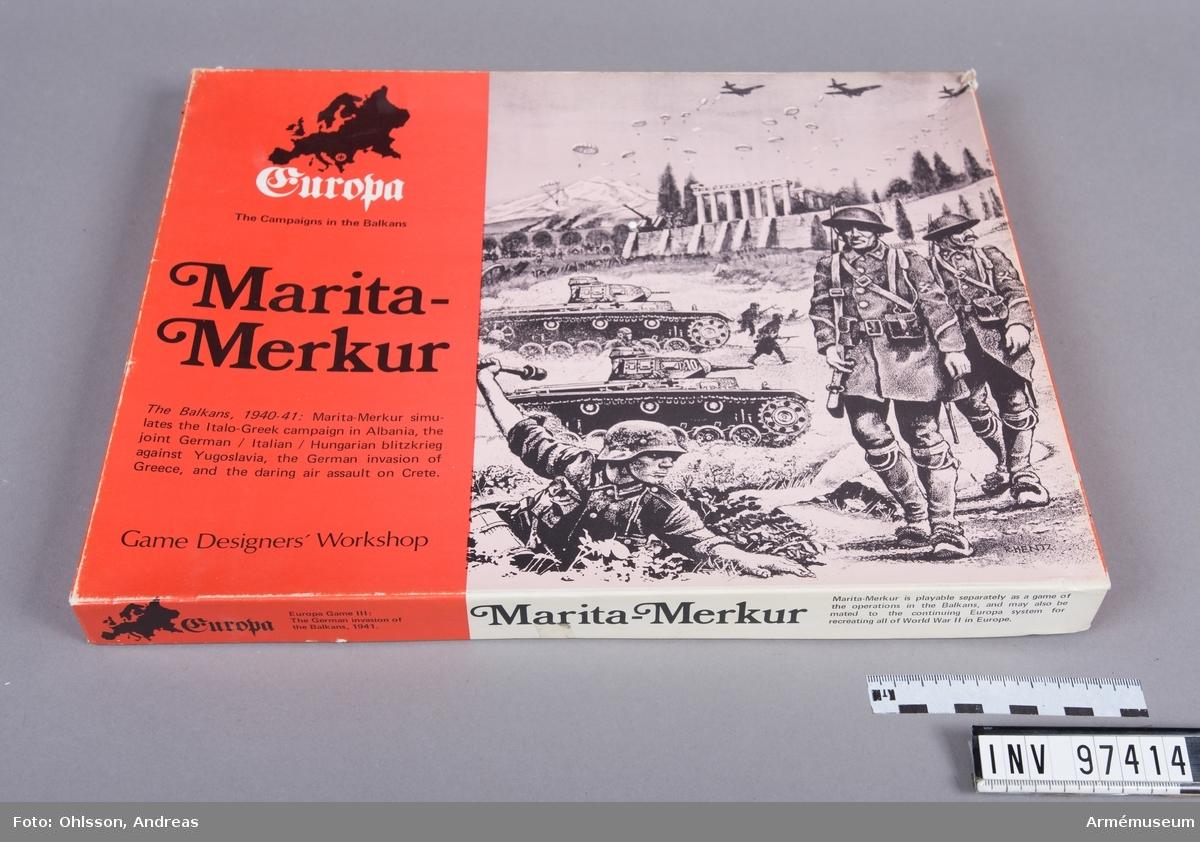 Spelet består av en karta över Balkan i två delar med hexagonmönster, tre kartor med cirka 1000 spelmarkeringar i form av små pappkvadrater i grönt, vitt, svart, orange, blått och brunt med olika siffror, bokstäver och symboler, samt några häften och lösa blad med spelinstruktioner, tabeller och diagram.